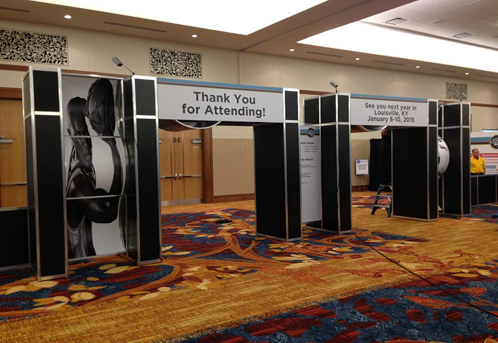 Exhibition Display Units : Entrance units c tradeshow services